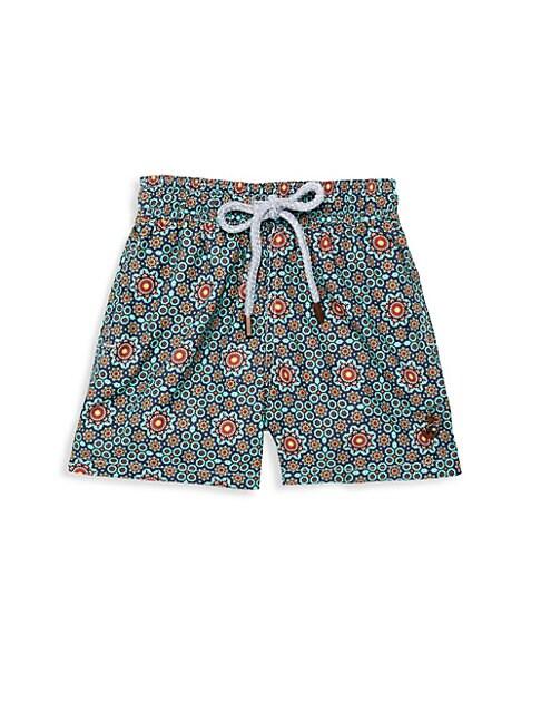 RETROMARINE Boy'S Floral Drawstring Swim Shorts