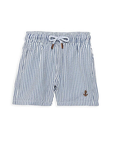 RETROMARINE Boy'S Hybrid Striped Swim Shorts