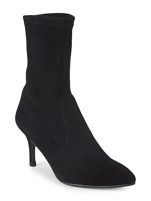 SUEDE KITTEN HEEL BOOTIES