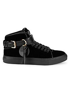 16e4d5adaa7d5 BUSCEMI. Unisex Velvet Buckle High-Top Sneakers