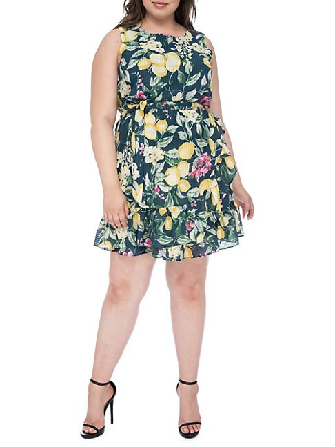 Plus Amina Sleeveless Apron Dress