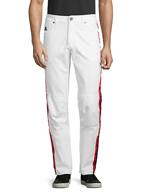 DNM COLLECTION   Tape Slim-Fit Pants   Goxip