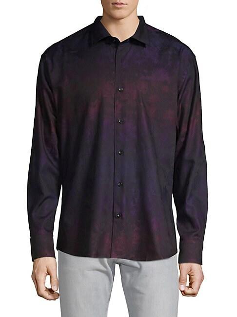 BERTIGO | Floral Button-Down Shirt | Goxip