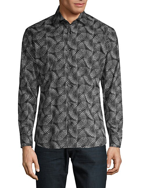 BERTIGO | Printed Button-Down Shirt | Goxip
