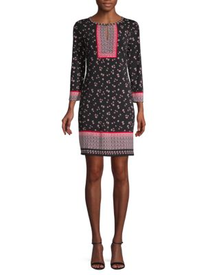 Max Studio Floral-Print Shift Dress