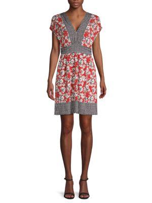 Max Studio Kimono-Sleeve A-Line Dress