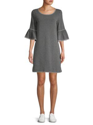 Max Studio Bell-Sleeve Shift Dress