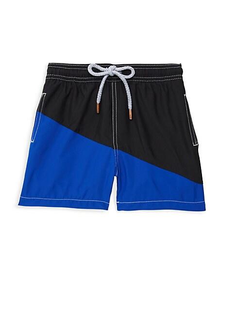 RETROMARINE Boy'S Diagonal Block Swim Shorts