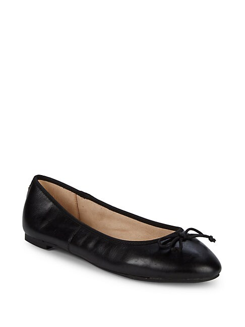 CIRCUS BY SAM EDELMAN | Charlotte Leather Ballet Flats | Goxip