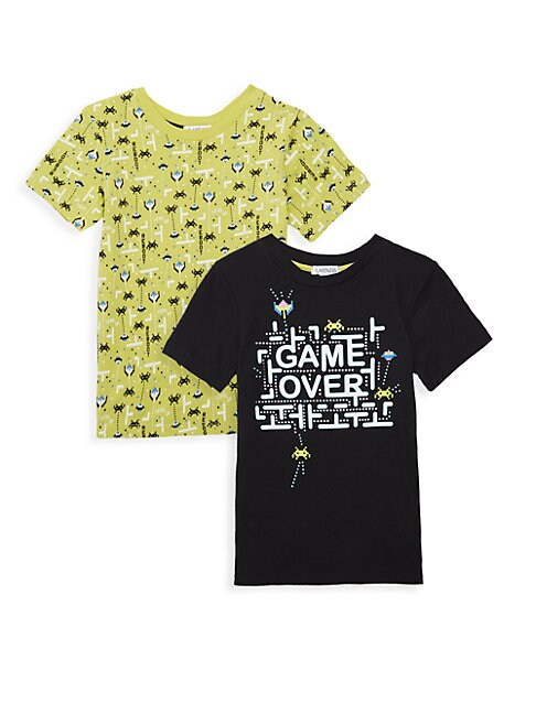 FLAPDOODLES | Little Boy's Two-Pack Fundamentals Printed Tee Set | Goxip
