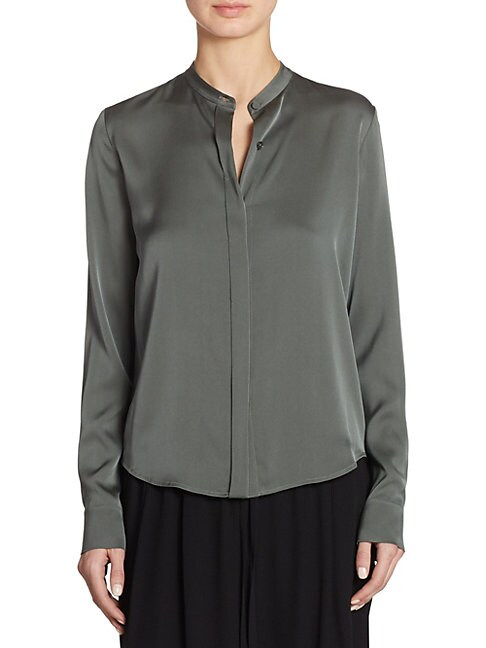 Silk Button-Down Blouse