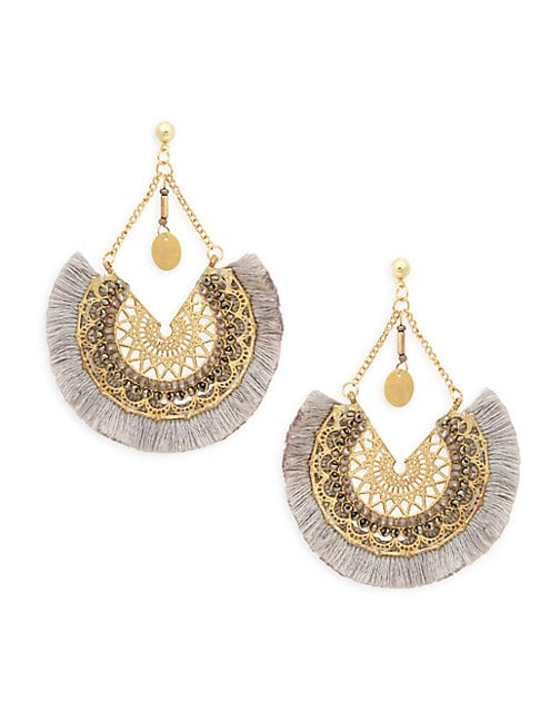 FRINGED FILIGREE EARRINGS