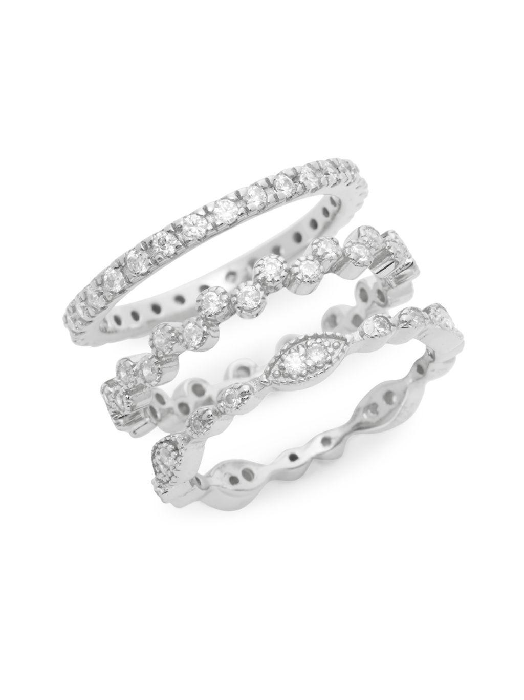 Sterling Forever 3-Ring Stackable Set