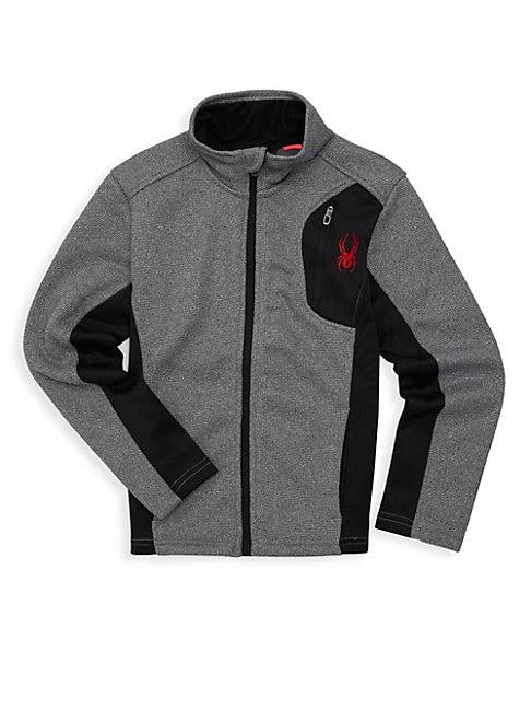 SPYDER Boy'S Raiders Heathered Zip Sweater
