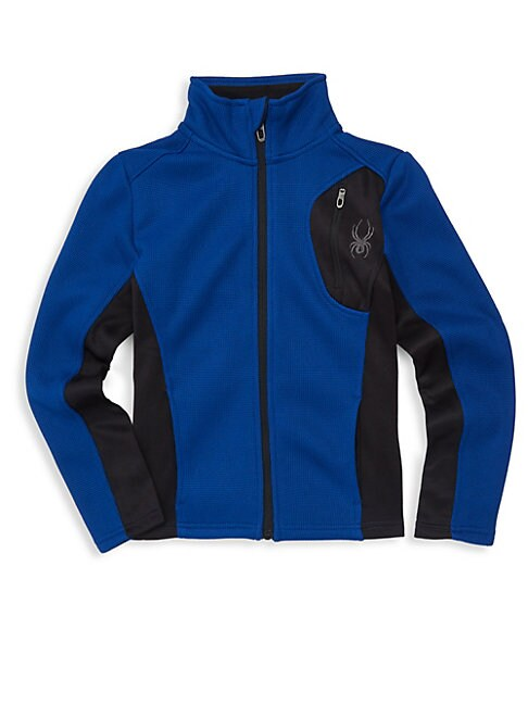 SPYDER Boy'S Raider Colorbock Track Jacket in Blue