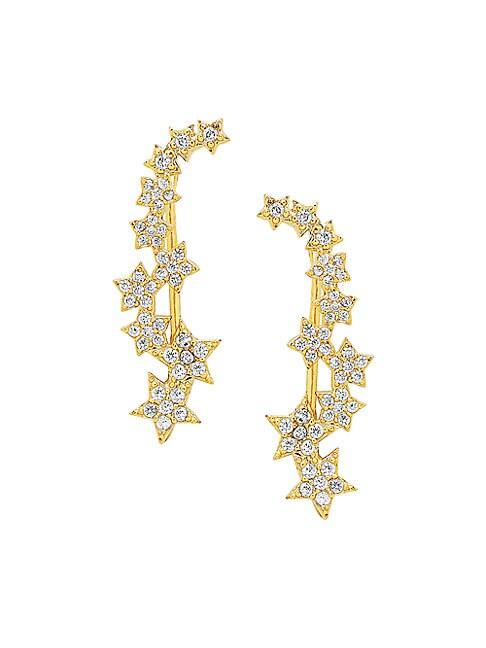 Star Crystal Crawler Earrings