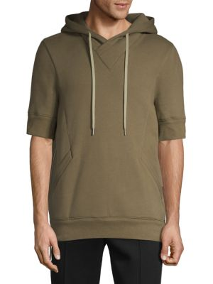Helmut Lang Shorts Short-Sleeve Cotton Blend Hoodie