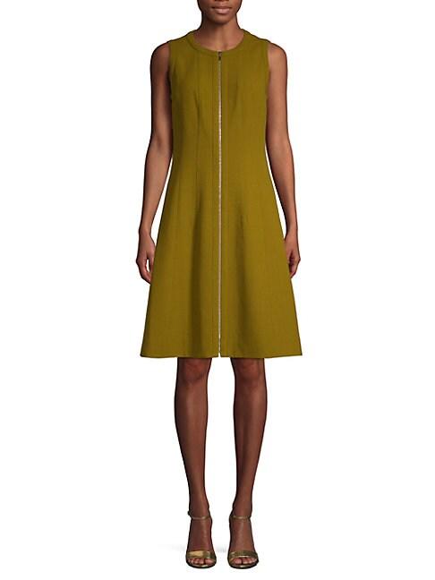CELINA WOOL A-LINE DRESS
