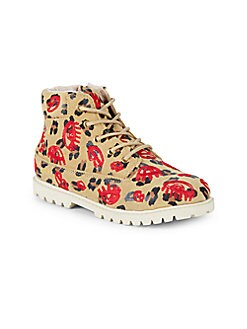 Akid - Girl's Printed Leather Boots
