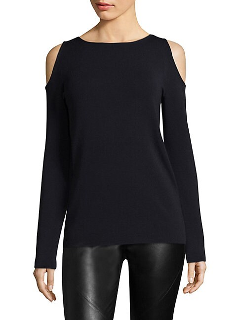 Wool Cold-Shoulder Sweater