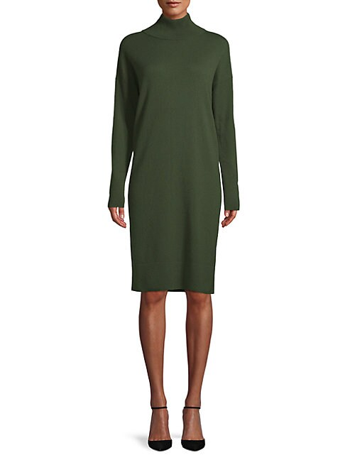 Turtleneck Cashmere Sweater Dress