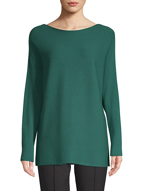 Ribbed Dolman Sleeve Pullover