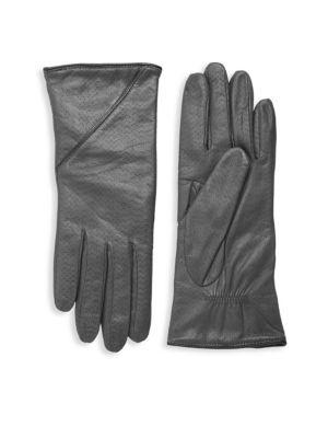 Portolano Gloves Textured Leather Gloves