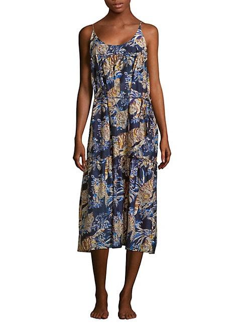 Jungle Print Dress Cover-Up