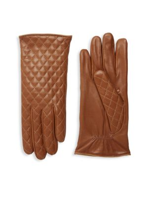 Portolano Gloves QUILTED LEATHER GLOVES