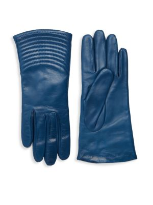 Portolano Gloves QUILTED WAVE LEATHER GLOVES