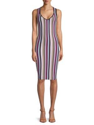 Ronny Kobo Ariella Striped Bodycon Dress