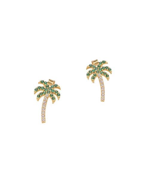 Pavé Palm Tree Studs