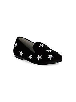 0798bd94ee1 Little Girl s Star Smoking Velvet Loafers BLACK VELVET. QUICK VIEW. Product  image. QUICK VIEW. Hoo
