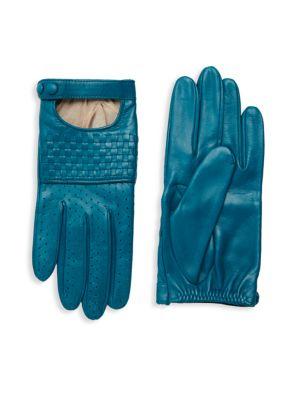 Portolano Gloves Basket Weave Leather Gloves