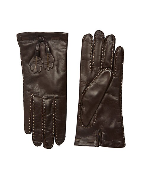 Leaves Leather Gloves