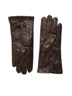 PORTOLANO Leaves Leather Gloves