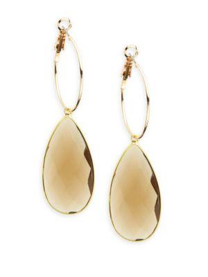 Panacea Quartz Teardrop Earrings