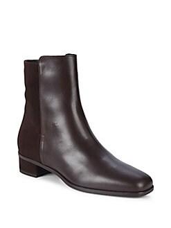 Aquatalia - Leather Ankle Boots