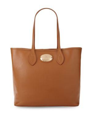 Roberto Cavalli Nero Leather Tote Bag