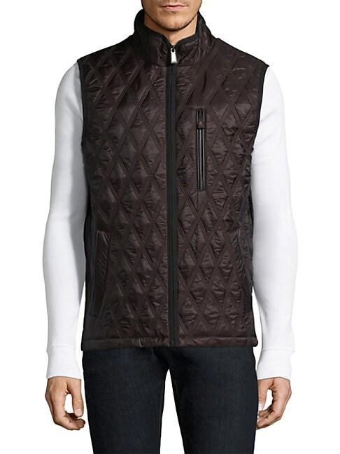 RAINFOREST Quilted Vest in Midnight
