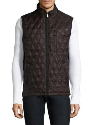 RAINFOREST Quilted Vest in Hickory