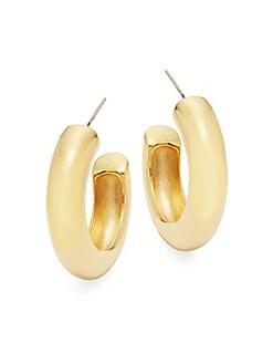 Kenneth Jay Lane - Thick Hoop Earrings