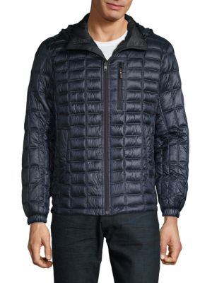RAINFOREST Reversible Quilted Down Alternative Jacket in Midnight