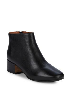Gentle Souls Laina Block Heel Leather Booties