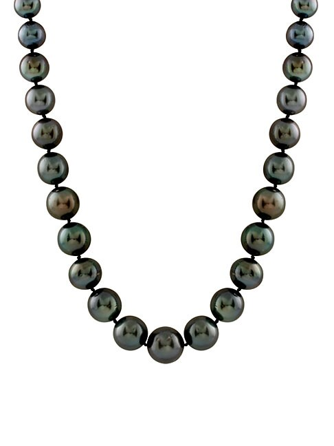 Round 14MM Tahitian Pearl Necklace