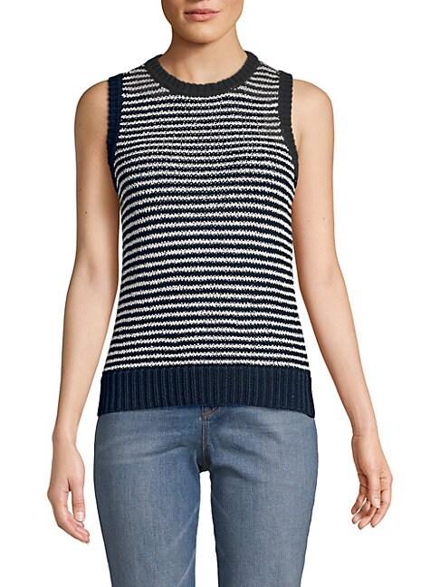 Striped Sleeveless Sweater