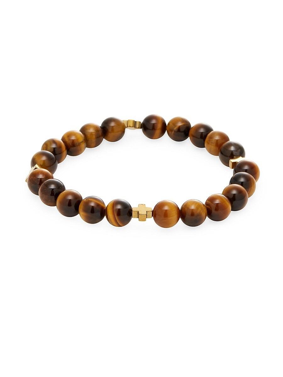 Men's Tigers-Eye Beaded Bracelet