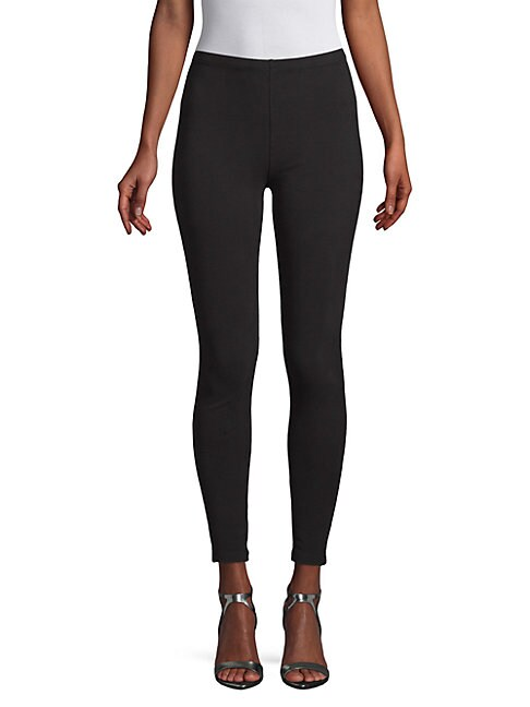 MATTY M Classic French Terry Leggings in Black
