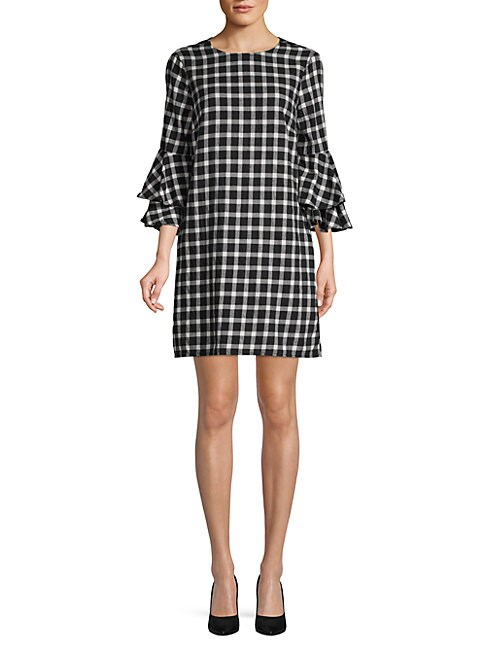 BEACH LUNCH LOUNGE | Tiered Bell-Sleeve Cotton Dress | Goxip