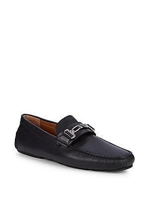 965fe64d068 Bally - Stripe Leather Loafers - saksoff5th.com